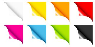 Set Of Eight Colorful Web Corners Full And Angled royalty free illustration