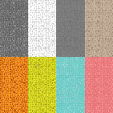 Collection of eight seamless patterns with a pattern of geometric shapes Royalty Free Stock Images