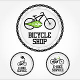 Collection of electric bike  set. E-bike  template design Royalty Free Stock Photo