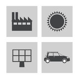 Collection electricity power energy icons. Vector illustration eps 10 Stock Photo