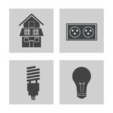 Collection electricity power energy icons. Vector illustration eps 10 Royalty Free Stock Photography