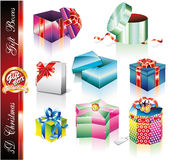Collection of elegant Colofrul Gift Boxes Royalty Free Stock Photography