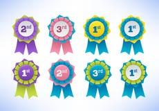Collection of elegant colorful design elements - buttons, badges, labels royalty free illustration