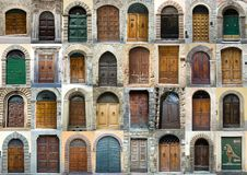 Collection elegant door Tuscany Italy. Different door from Tuscany Italy (Florence, Lucca, San Gimignano Royalty Free Stock Photo