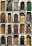 Collection elegant obsolete door Tuscany Italy. Collection of Italian doors. Images taken in different cities: Lucca, Florence, Piza, San Gimigniano Royalty Free Stock Image