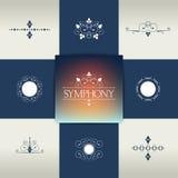 Collection of elegant ornament elements, symbols. Stock Photos