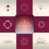 Collection of elegant ornament elements, symbols. Stock Image