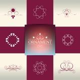 Collection of elegant ornament elements, symbols. Stock Image