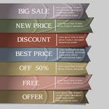 Collection of elegant ribbons Stock Images