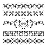 Collection of Elegant and Vintage Calligraphic Decorations. Elegant and fine calligraphic decorations and patterns set for borders, backgrounds, pages and frames Stock Photo