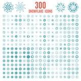 Collection of elegante stylish snowflakes  Stock Image