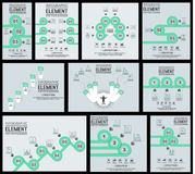 Collection of element for infographic template gemetric figure overlapping circles. For web Royalty Free Stock Photo