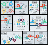 Collection of element for infographic template geometric figure overlapping circles. For web Stock Images