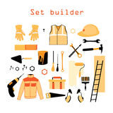 Collection elements for building and repair Stock Photography