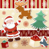 Collection of elements for Christmas design Stock Images