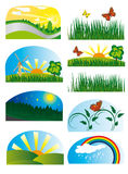Collection of elements of nature Royalty Free Stock Images