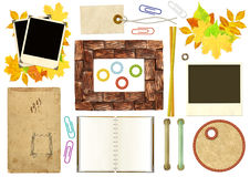 Collection elements for scrapbooking stock illustration