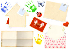 Collection of elements for scrapbooking. Objects over white Royalty Free Stock Image