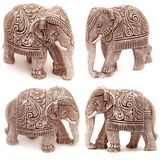 Collection of elephant figurines Stock Image