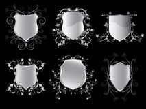 Collection of emblem shields Royalty Free Stock Photography