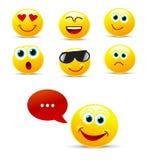Emoticon set Stock Images