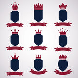 Collection of empire design elements. Heraldic royal coronet ill Stock Image