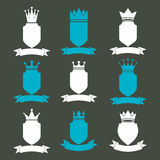 Collection of empire design elements. Heraldic royal coronet ill Stock Photo