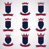 Collection of empire design elements. Heraldic royal coronet Royalty Free Stock Photography