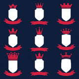 Collection of empire design elements.  Royalty Free Stock Images