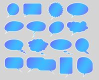 Collection of empty speech bubbles Stock Photo