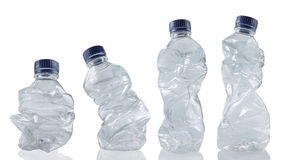 Collection of empty used plastic bottles royalty free stock photography