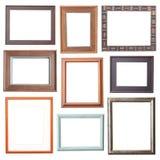 Collection en bois de cadre Photographie stock