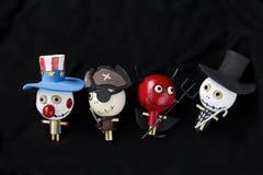 Collection en bois de fantôme de poupée Image stock