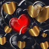 Collection en verre de coeur illustration de vecteur