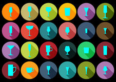 Collection en verre plat Image libre de droits