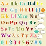 Collection of English letters colorful  alphabet for design Royalty Free Stock Photography
