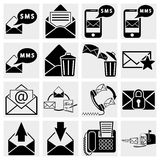 Envelope, communication, plane, shopping, mobile s Royalty Free Stock Photography