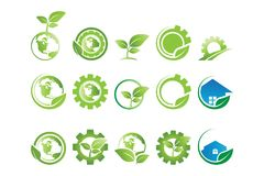 Collection of environement logo vector illustration