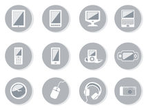 Collection of equipment icons Royalty Free Stock Images