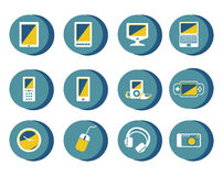 Collection of equipment icons Royalty Free Stock Photo