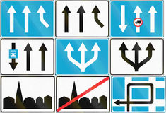 Collection of Estonian road signs Royalty Free Stock Photos