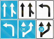 Collection of Estonian road signs Royalty Free Stock Photo