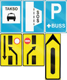 Collection of Estonian road signs Stock Photography