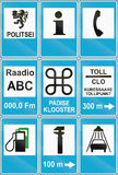 Collection of Estonian road signs.  Stock Image