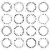 Collection of ethnic borders. Round frames. Decoration elements Royalty Free Stock Photo