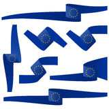 Collection of EU country flag banners Royalty Free Stock Image