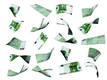 Collection of euro banknotes Royalty Free Stock Images