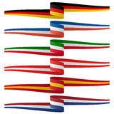 Collection of european country flag banners Stock Photo