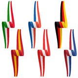 collection of european country flag banners Stock Photos