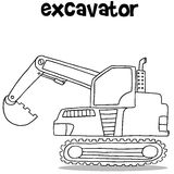 Collection of excavator transportation vector Stock Photo